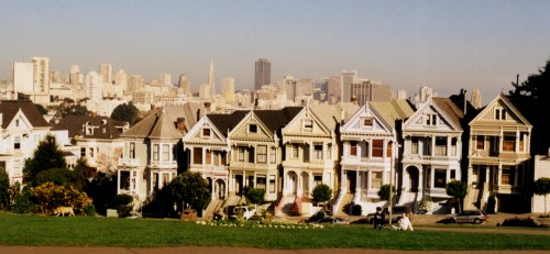 Painted Ladies with Skyline